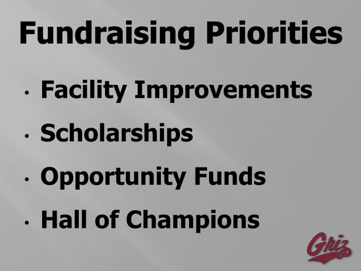 Fundraising Priorities