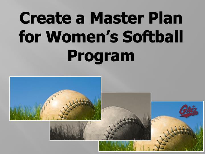 Create a Master Plan
