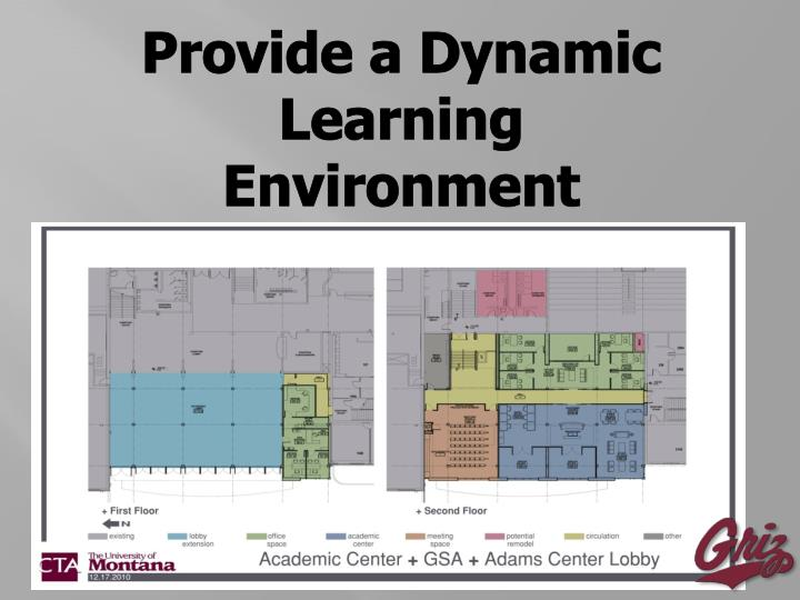 Provide a Dynamic Learning