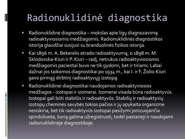 Radionuklidinė diagnostika