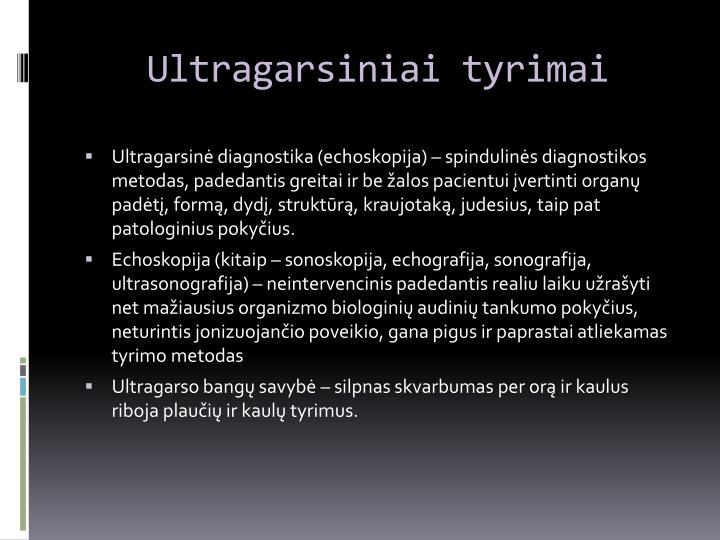 Ultragarsiniai tyrimai
