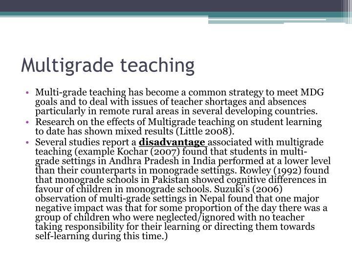 Multigrade teaching