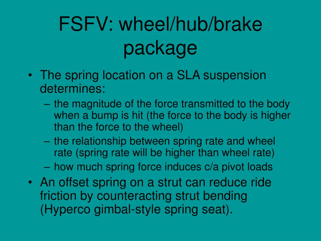 FSFV: wheel/hub/brake package