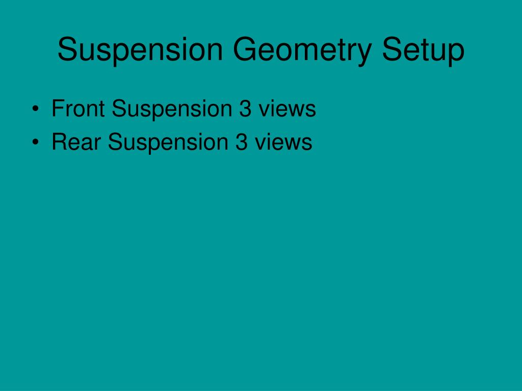 Suspension Geometry Setup