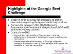 highlights of the georgia beef challenge
