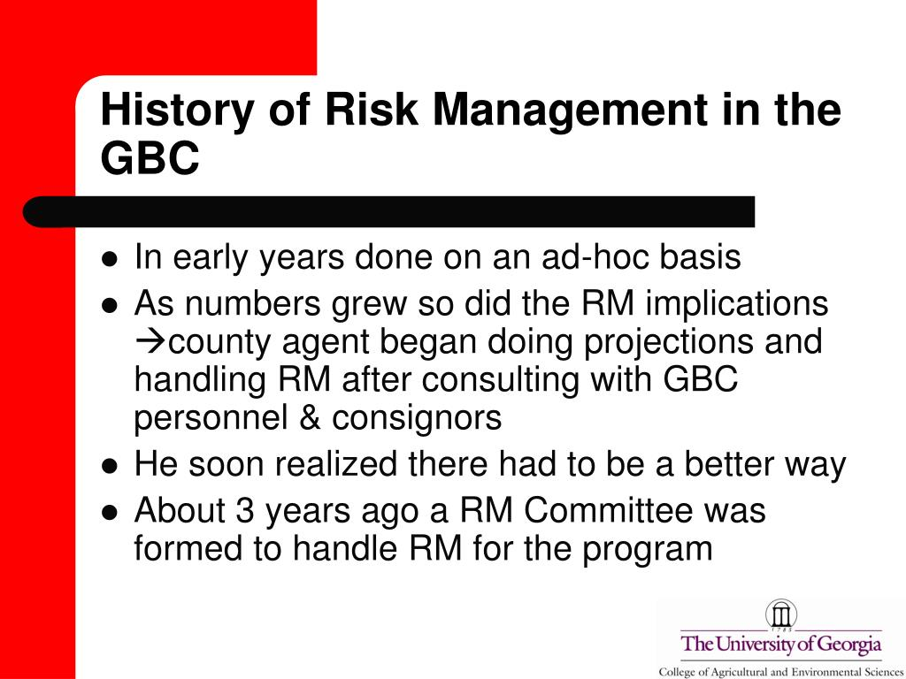 History of Risk Management in the GBC