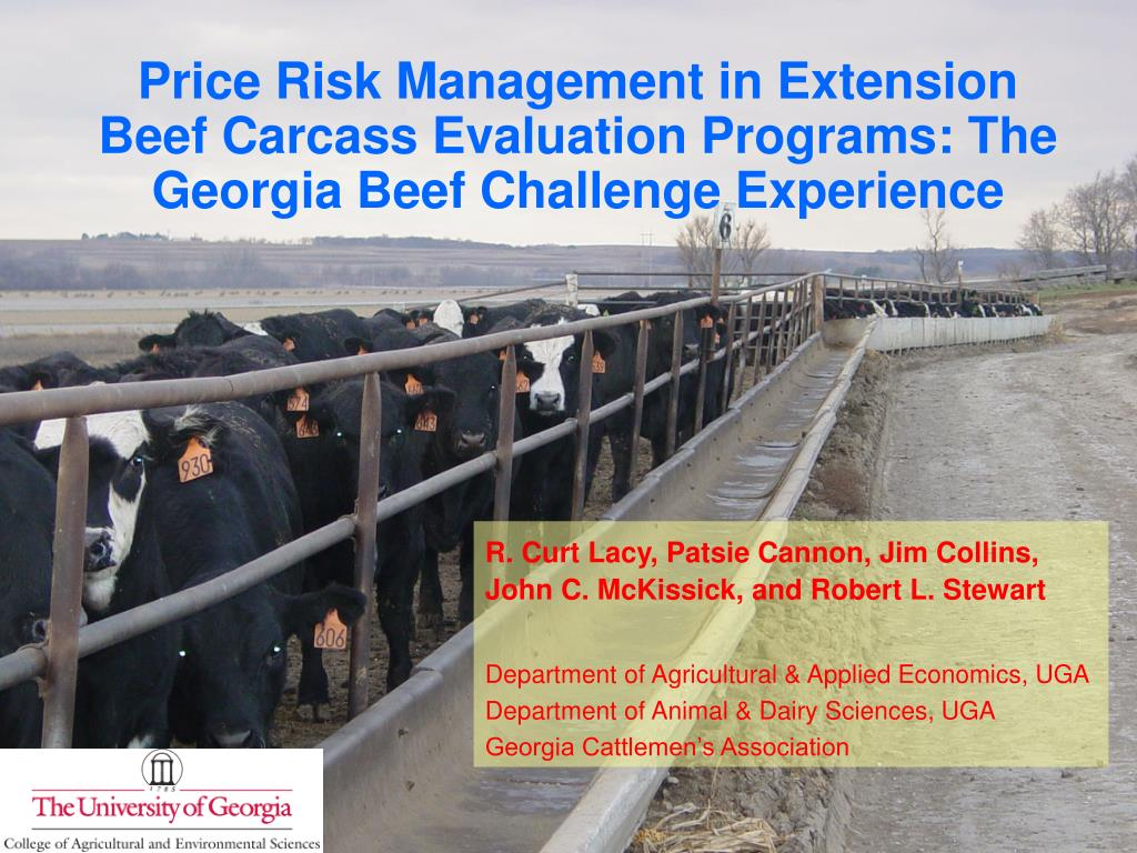 Price Risk Management in Extension Beef Carcass Evaluation Programs: The Georgia Beef Challenge Experience