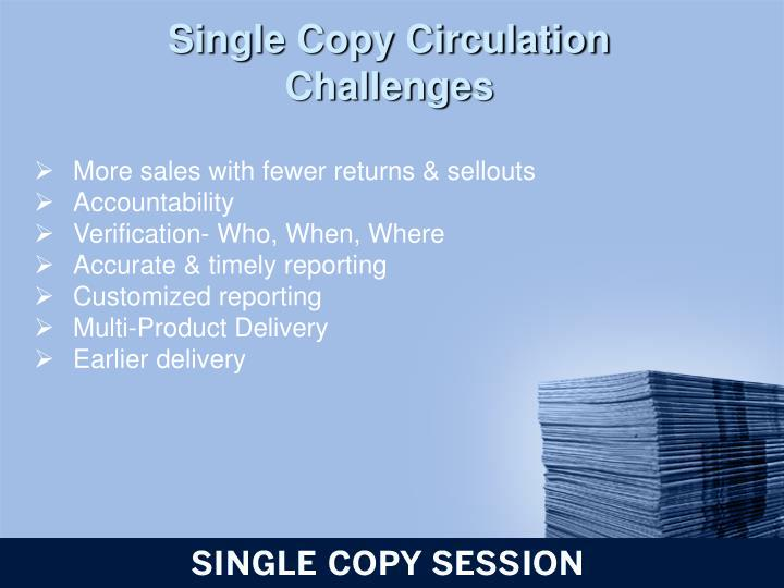 Single Copy Circulation Challenges