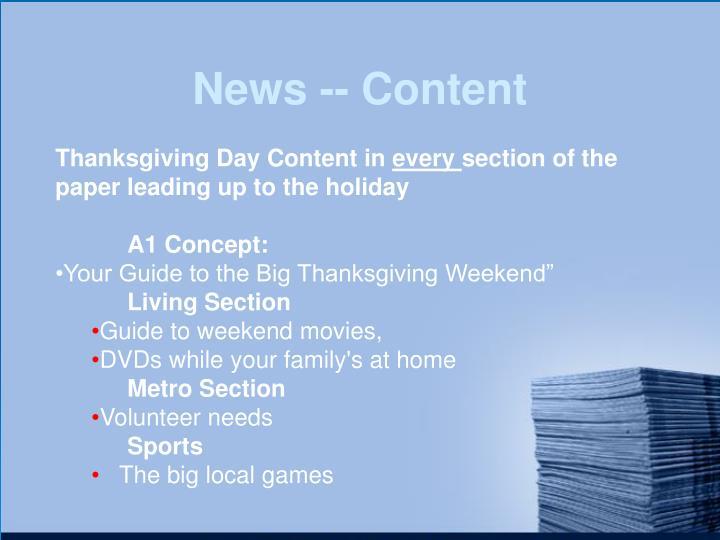 News -- Content
