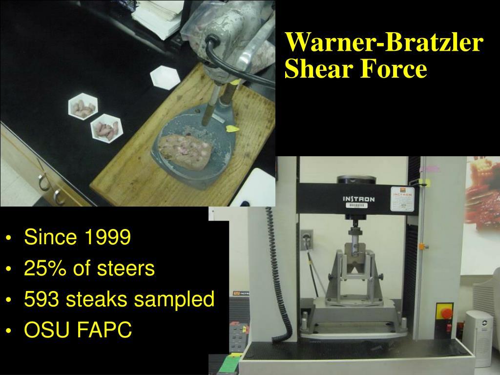 Warner-Bratzler Shear Force