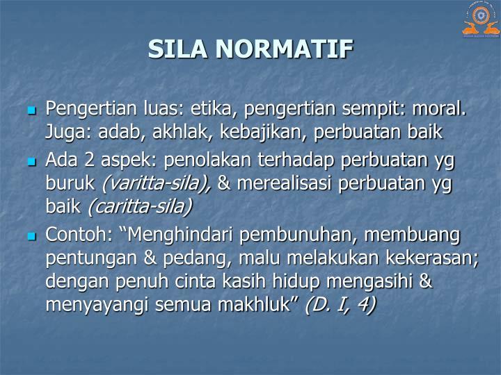 SILA NORMATIF