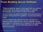 from building secure software1