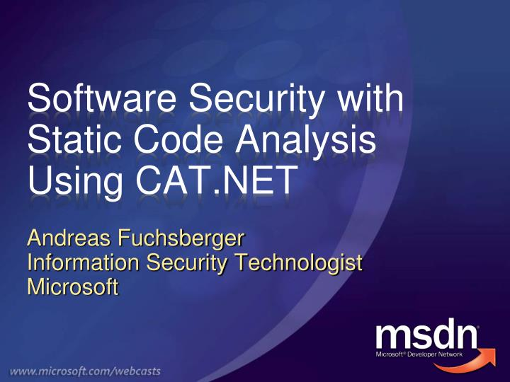 software security with static code analysis using cat net