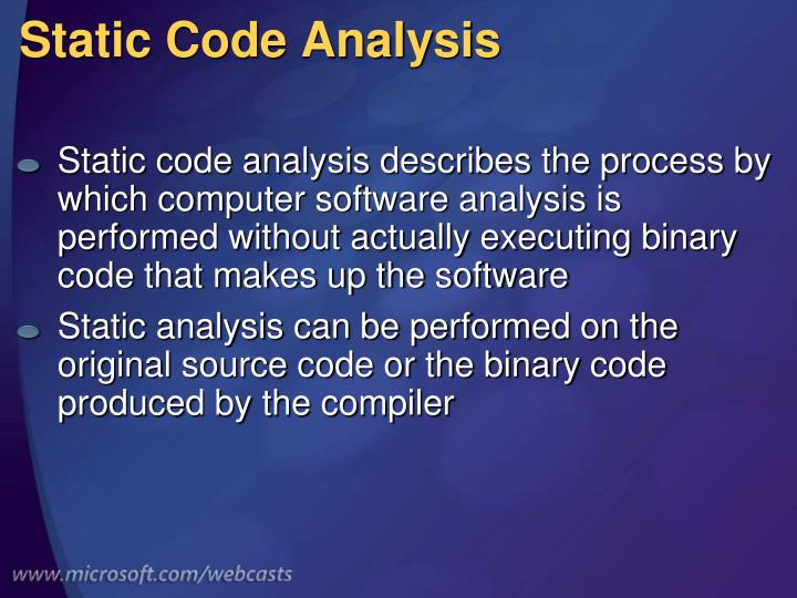 Static Code Analysis