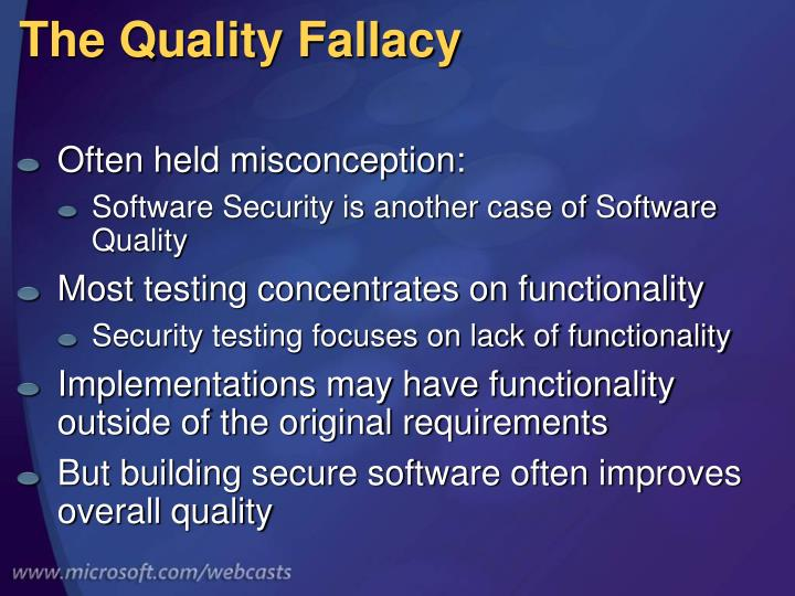 The Quality Fallacy