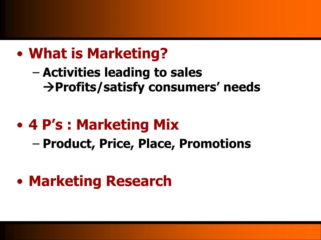 What is Marketing?