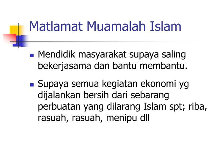 Matlamat Muamalah Islam