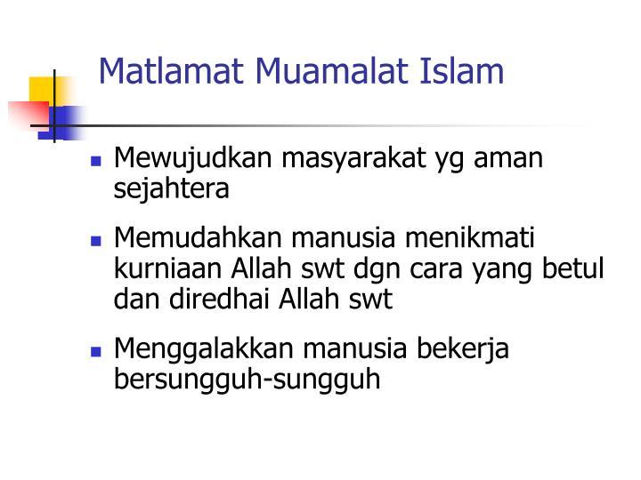 Matlamat Muamalat Islam
