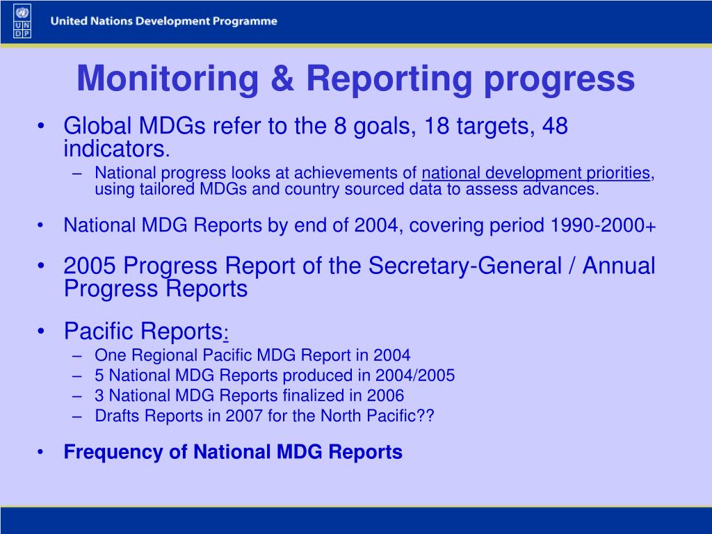 Monitoring & Reporting progress