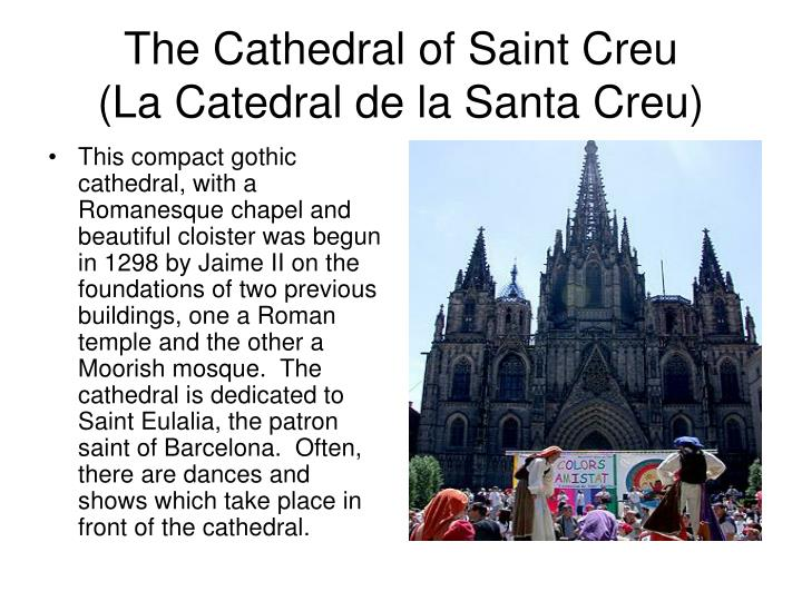 The cathedral of saint creu la catedral de la santa creu