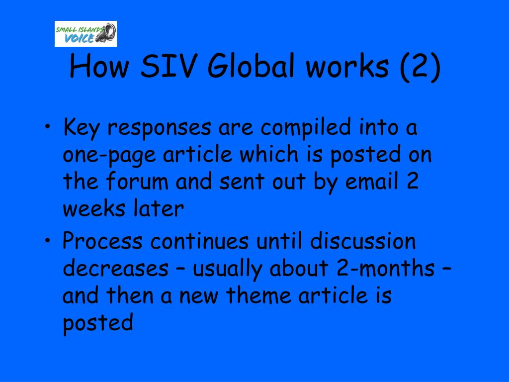 How SIV Global works (2)
