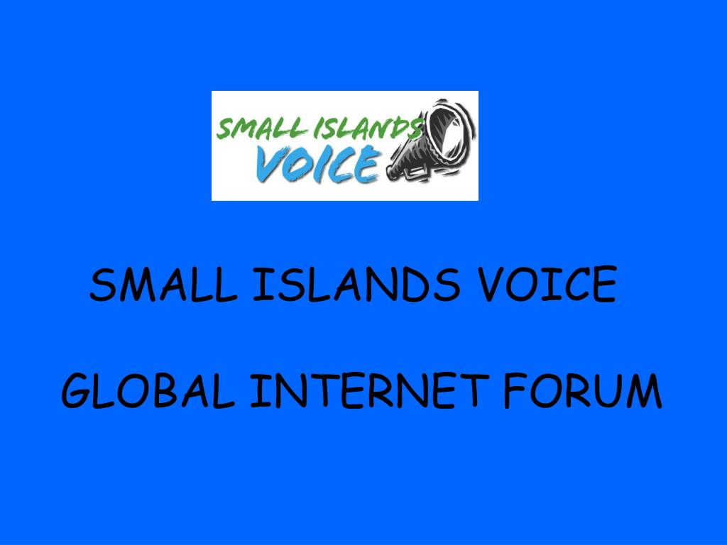 SMALL ISLANDS VOICE