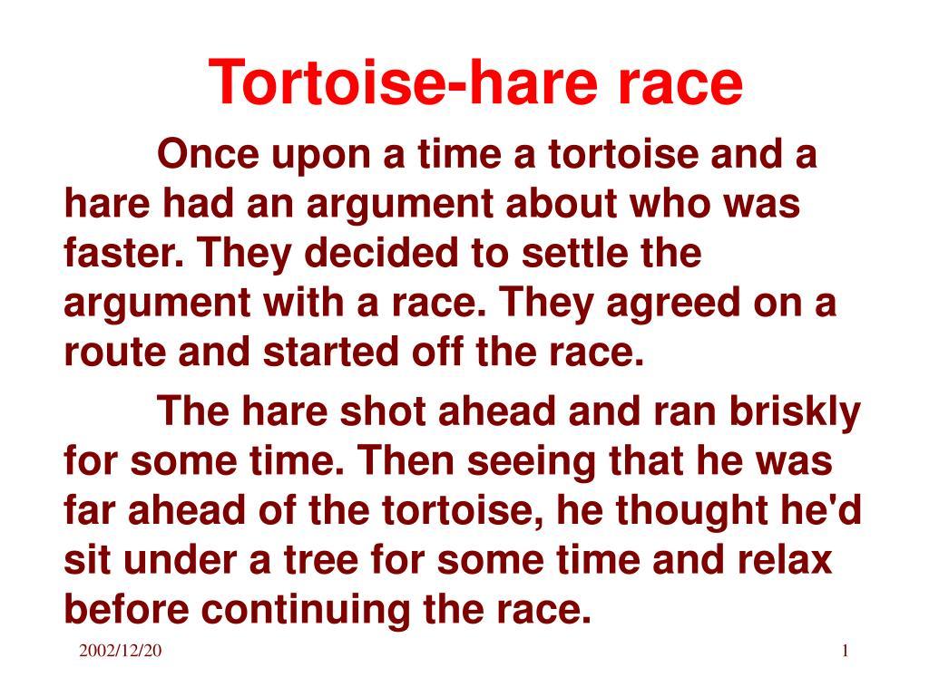 Tortoise-hare race