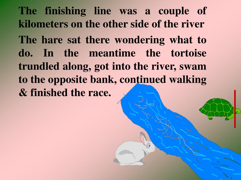 The finishing line was a couple of kilometers on the other side of the river