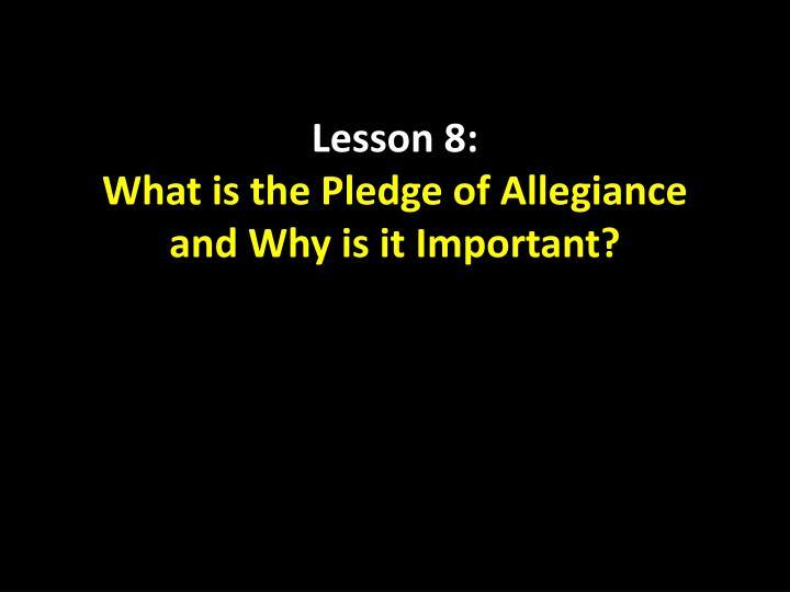 Lesson 8:
