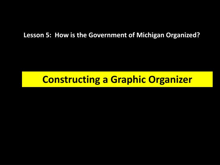 Lesson 5:  How is the Government of Michigan Organized?