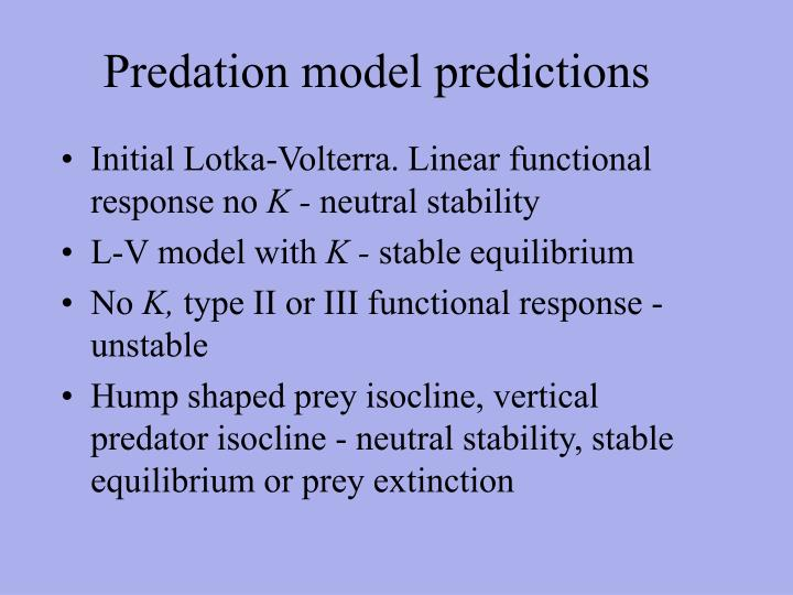 Predation model predictions