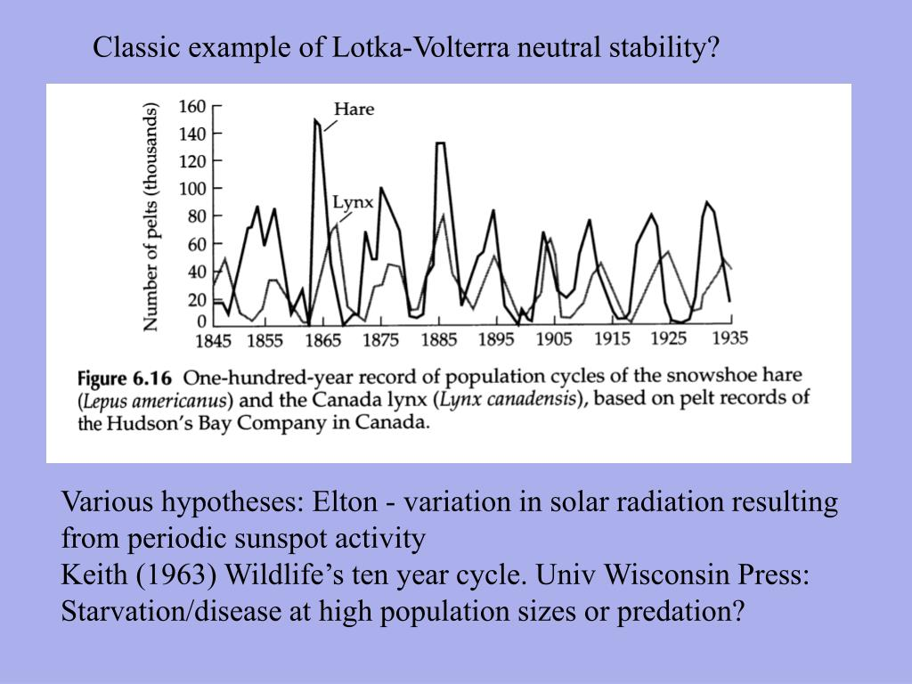 Classic example of Lotka-Volterra neutral stability?