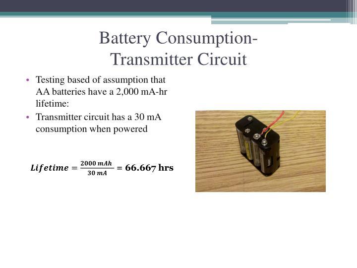 Battery Consumption-
