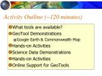 activity outline 120 minutes