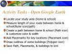 activity tasks open google earth