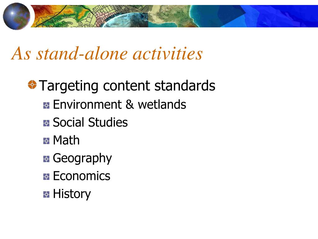 As stand-alone activities
