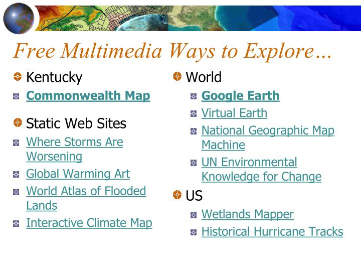 Free multimedia ways to explore