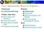 free multimedia ways to explore