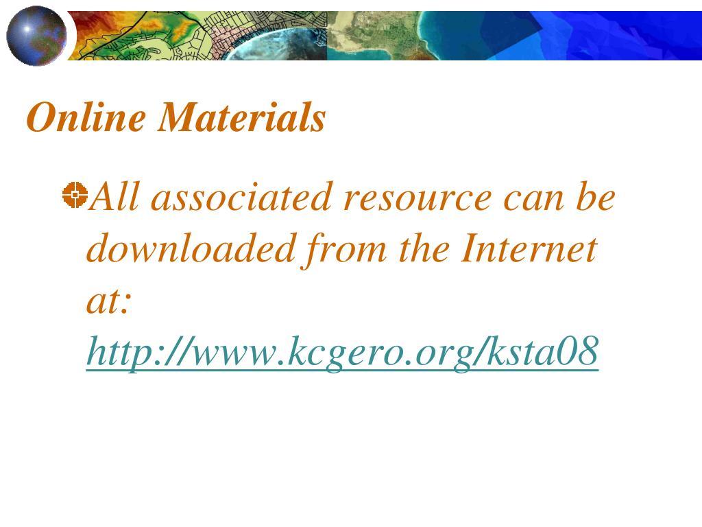 Online Materials