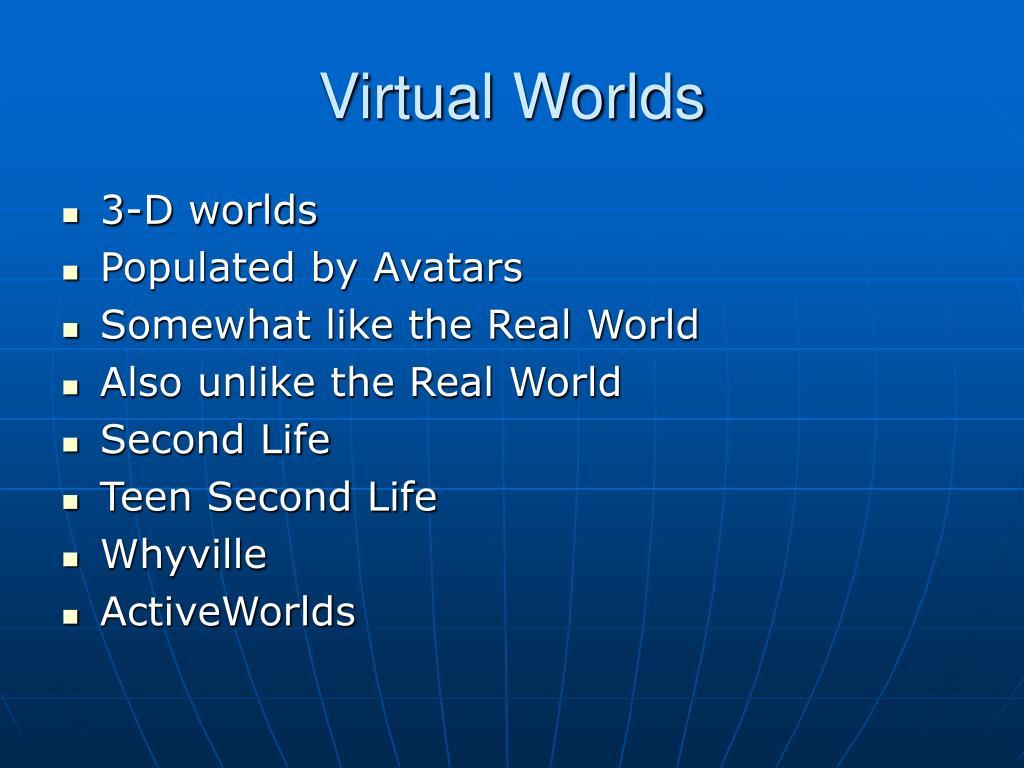 3-D worlds