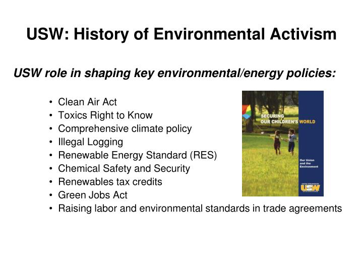 USW: History of Environmental Activism