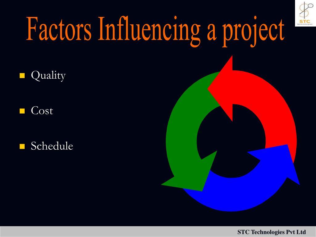 Factors Influencing a project