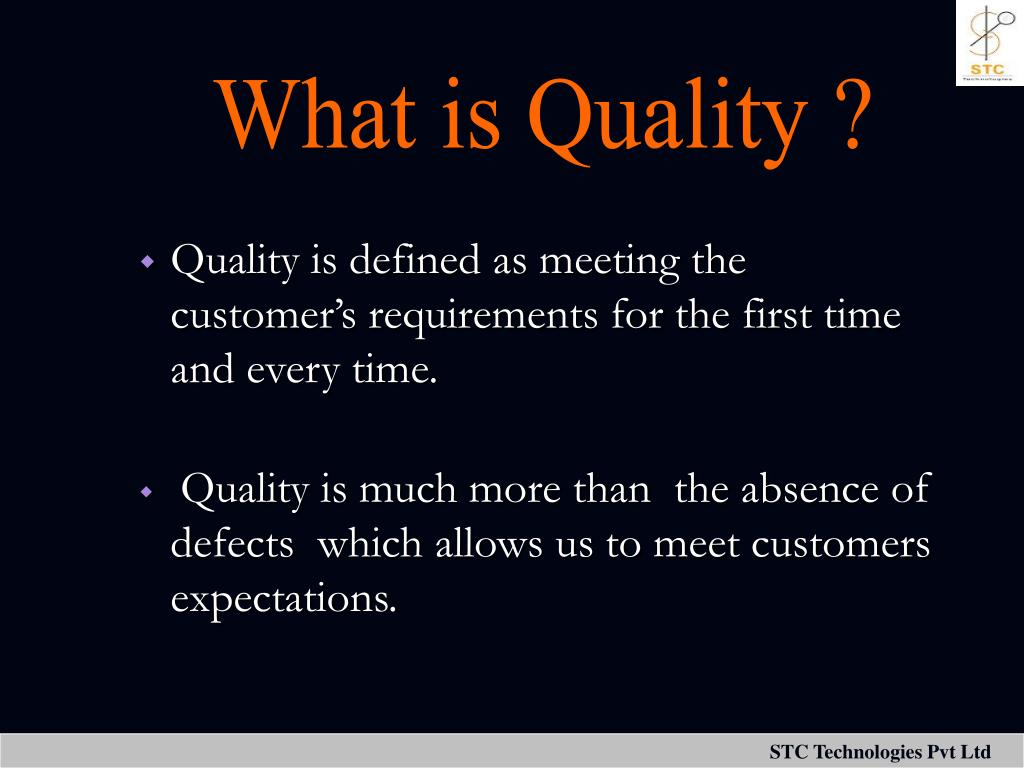 What is Quality ?