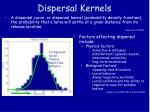 dispersal kernels