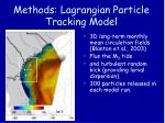 methods lagrangian particle tracking model