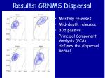 results grnms dispersal