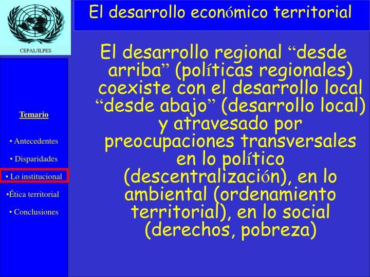 El desarrollo econ