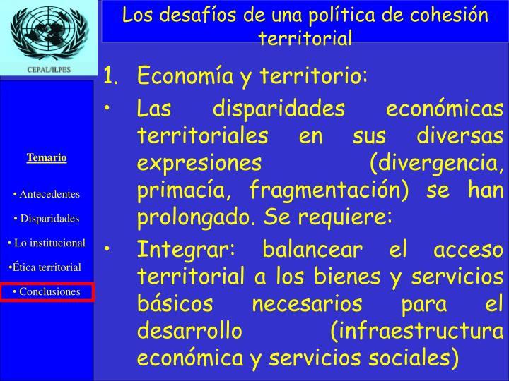 Los desafíos de una política de cohesión territorial
