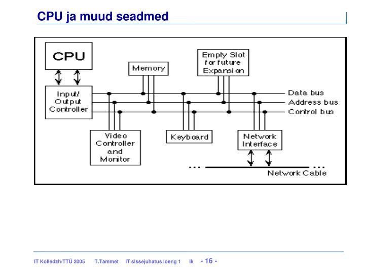 CPU ja muud seadmed