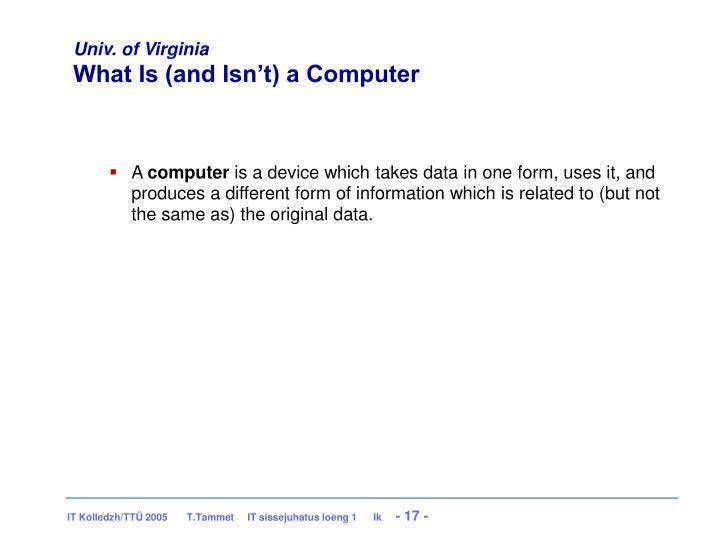Univ. of Virginia